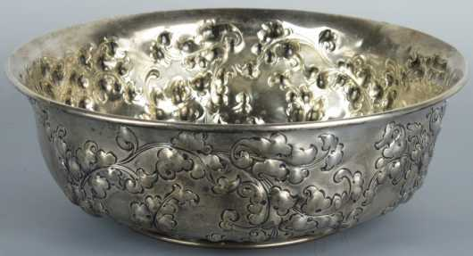 Sterling Silver Bowl, made for Bigelow & Kennard & Co