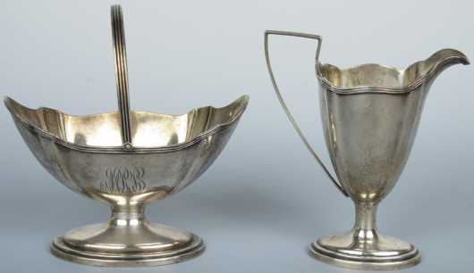 Sterling Silver Creamer and Sugar, Gorham sterling