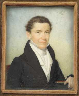 1840 Miniature portrait of a Gentleman