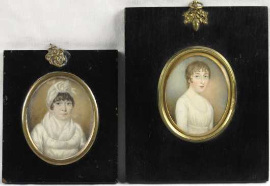 Two Miniature Paintings, both English Early 19th century
