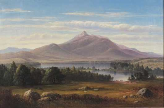 Benjamin Champney,  oil on canvas, White Mountain landscape of MT. Chocorua