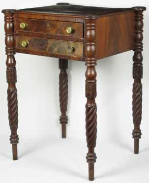 Sheraton Mahogany Two Drawer Stand