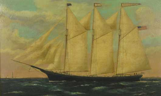 "Clipper Ship ""Standard"" Painting"
