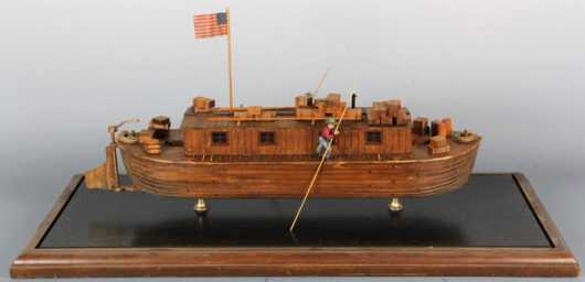 Ship Model - Hudson River Canal Boat