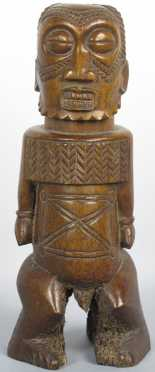 Bone Figure of an Oba (king