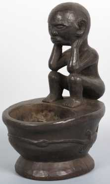 African Wooden Figural Carving of a Man