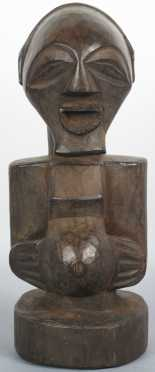 Wooden African Female Fertility Figure