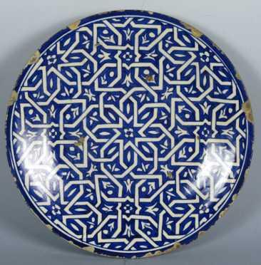 Izink Frit ware Over-Glazed Plate