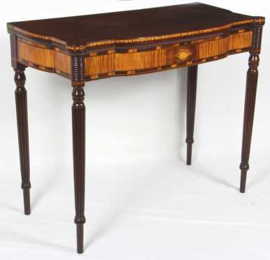 Portsmouth, NH Inlaid Card Table Circa 1800