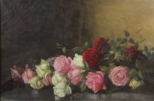 Benjamin Champney, Still life of roses
