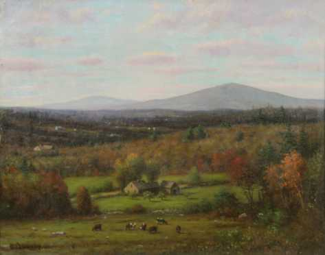 Benjamin Champney, oil on canvas painting of the White Mountains near Conway, NH