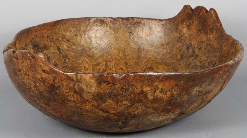 Native American Burl Bowl 18th Century
