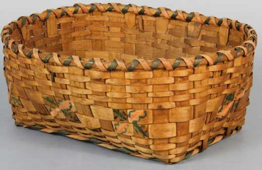 Mohegan Decorated Basket