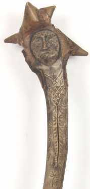 Penobscot Indian Root Head War Club