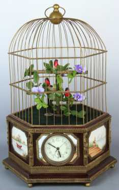 20th century, French Birdcage Automation Clock