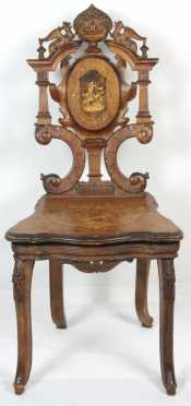 Swiss 19th century Music Box Chair