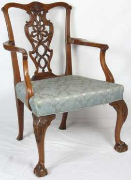 Massachusetts Chippendale Arm Chair