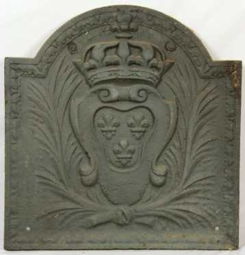 French Cast Iron Plaque