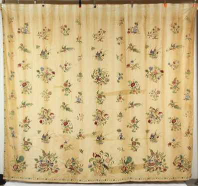 Pair of Crewel Work Drapes