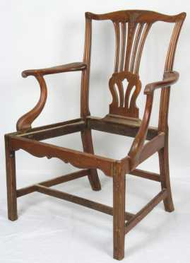 Chippendale Mahogany Arm Chair