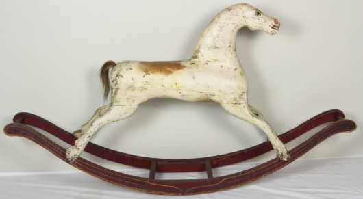 Carved Wooden Rocking Horse
