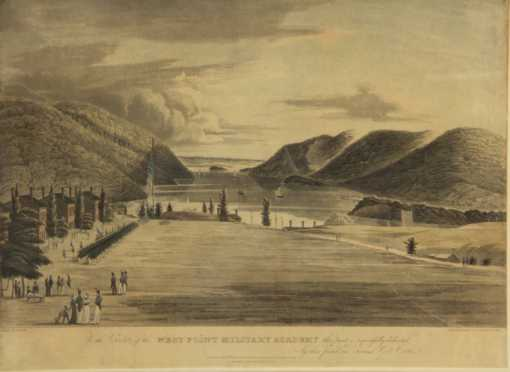Hand Colored West Point Engraving