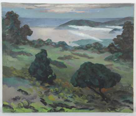 Frederick Rhodes Sisson, oil on canvas land/seascape