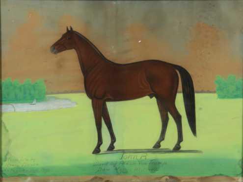 """Henry Dousa, portrait of a horse, """"John R. Sired by Aldon Von Trump Dam Maggie Mitchell,"""""""