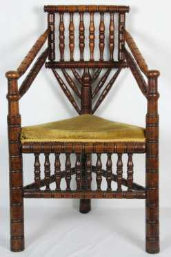 16/17th Century English Corner Chair Copy