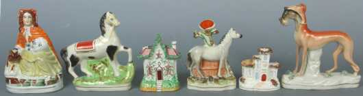 Six Staffordshire Figurines