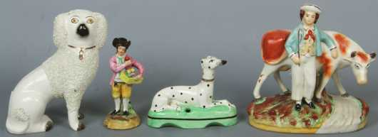 Four Staffordshire Figurines