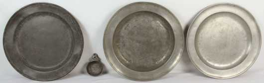 Lot of Four Pewter items