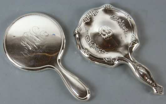 Two Sterling Silver Hand Mirrors