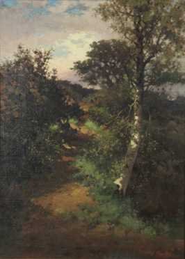 Late 19th century Landscape of a wooded scene