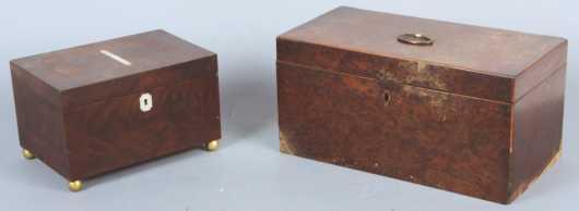 Two Veneer Boxes