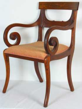 Boston Mahogany Empire Arm Chair