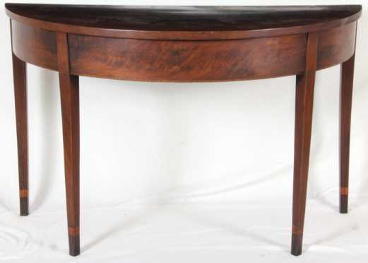 "Mahogany ""D"" End of Banquet Table"