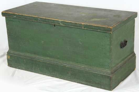Green Painted Blanket Box