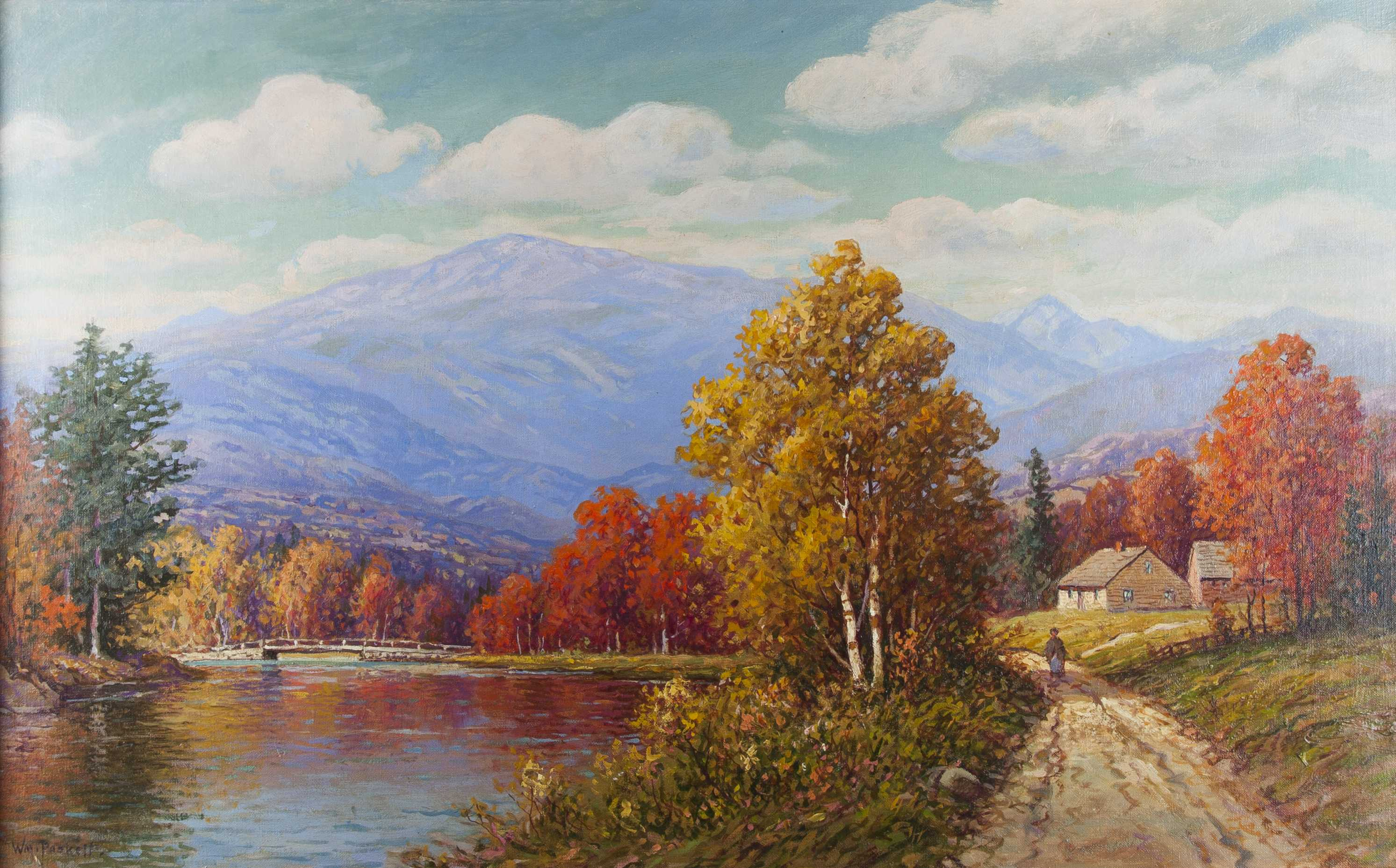 William Frederick Paskell Painting Of Mount Washington