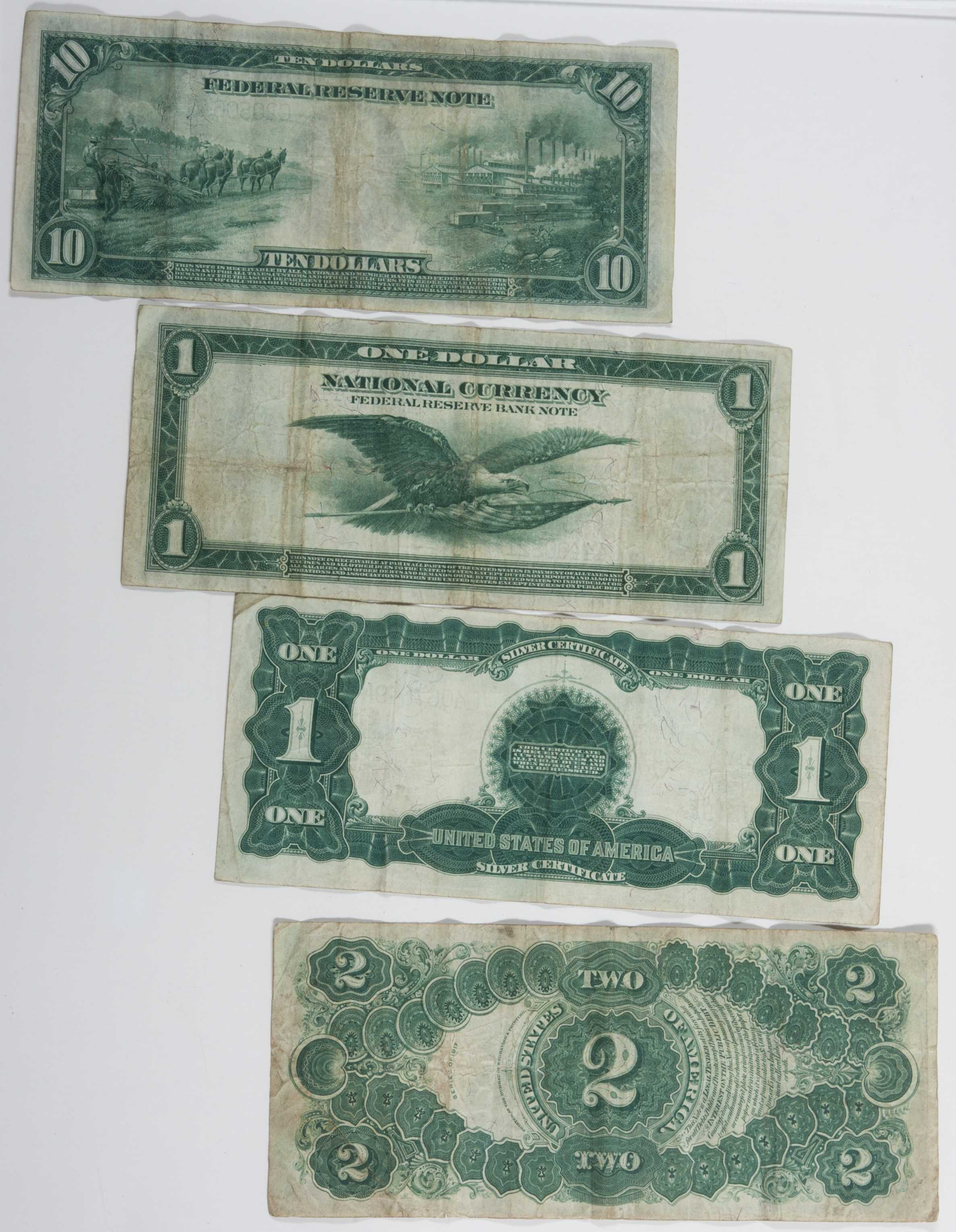 U S  Currency Notes and Silver Certificate