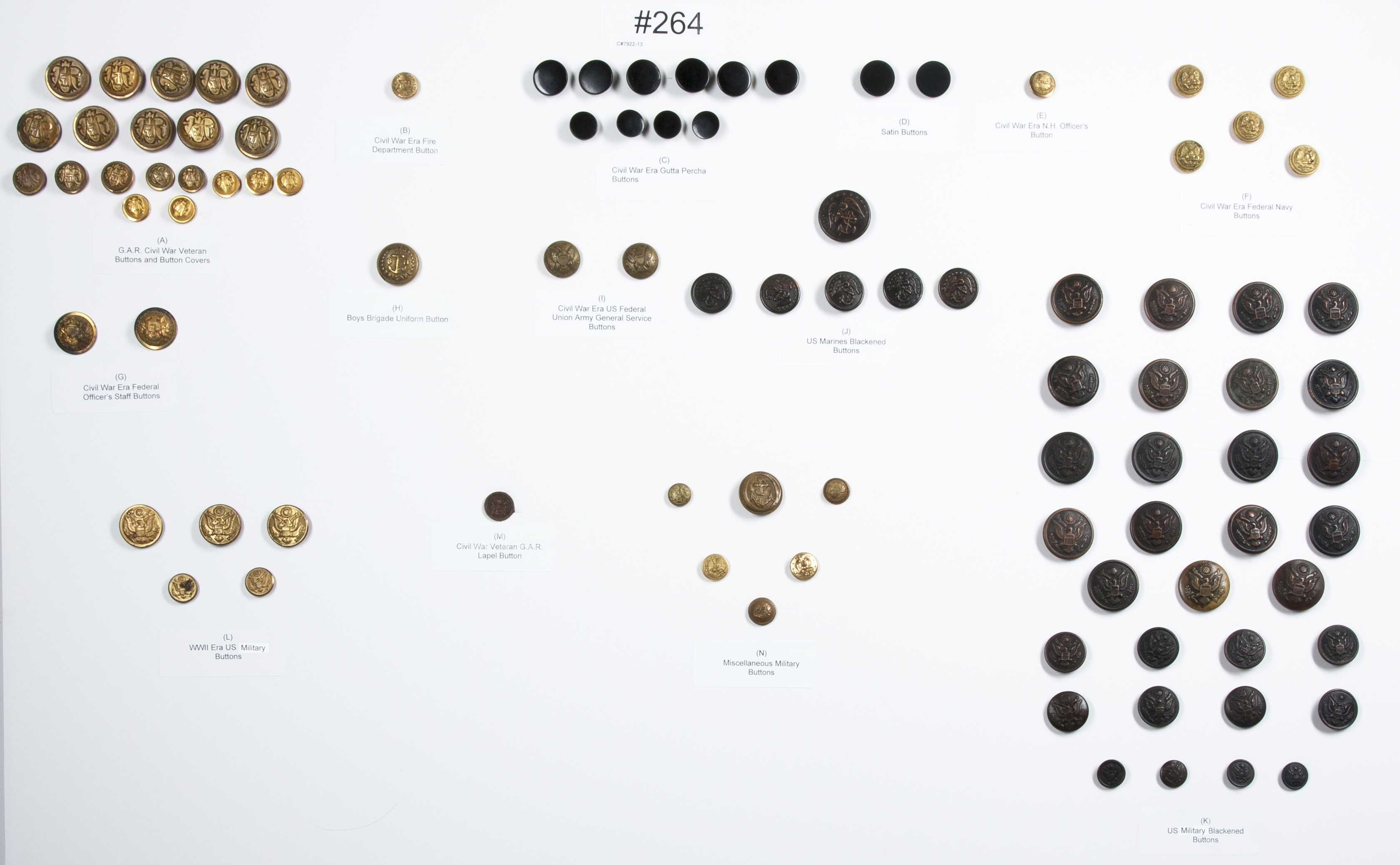 Civil War, Military and Antique Buttons