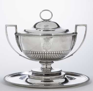 Paul Storr,  1771-1844, English, Silver Tureen and Tray
