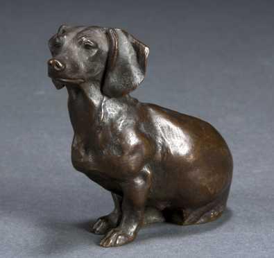 Edouard-Marcel Sandoz, bronze Dachshund
