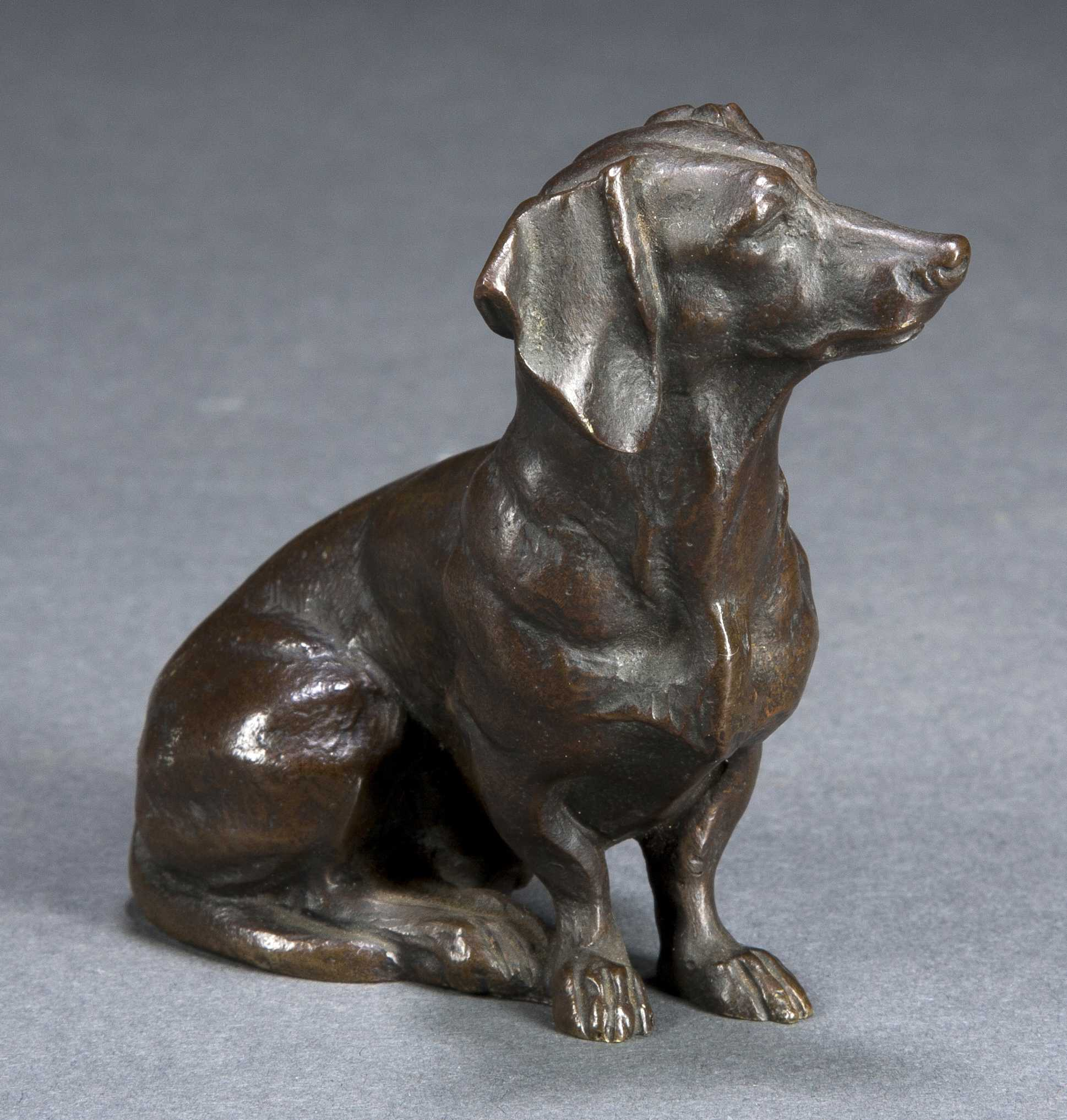 Edouard Marcel Sandoz Bronze Dachshund