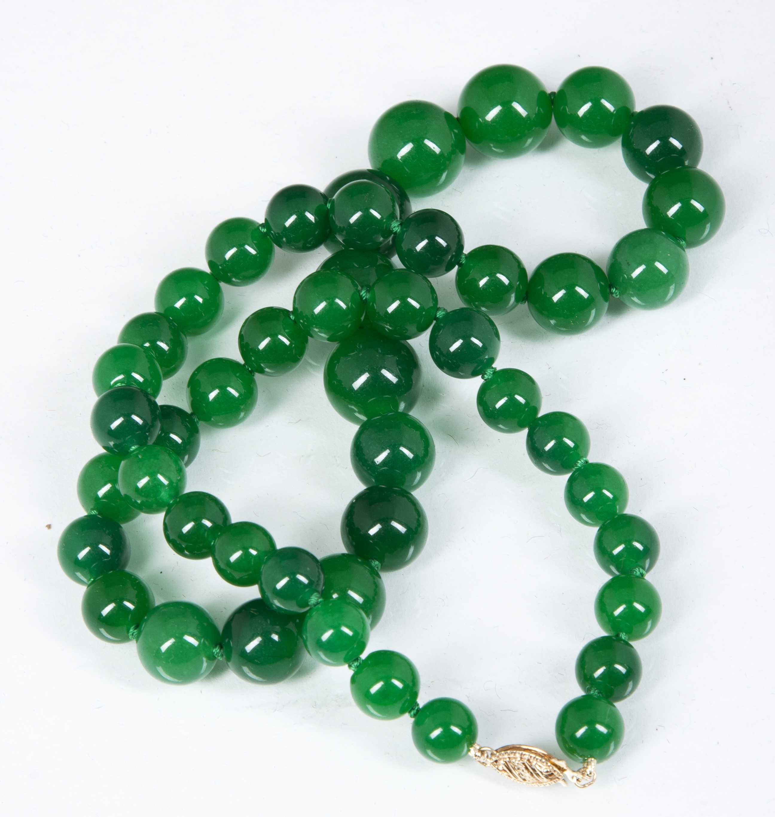 jadeite beaded necklace