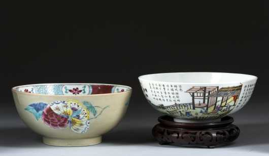 Two Chinese Punch Bowls