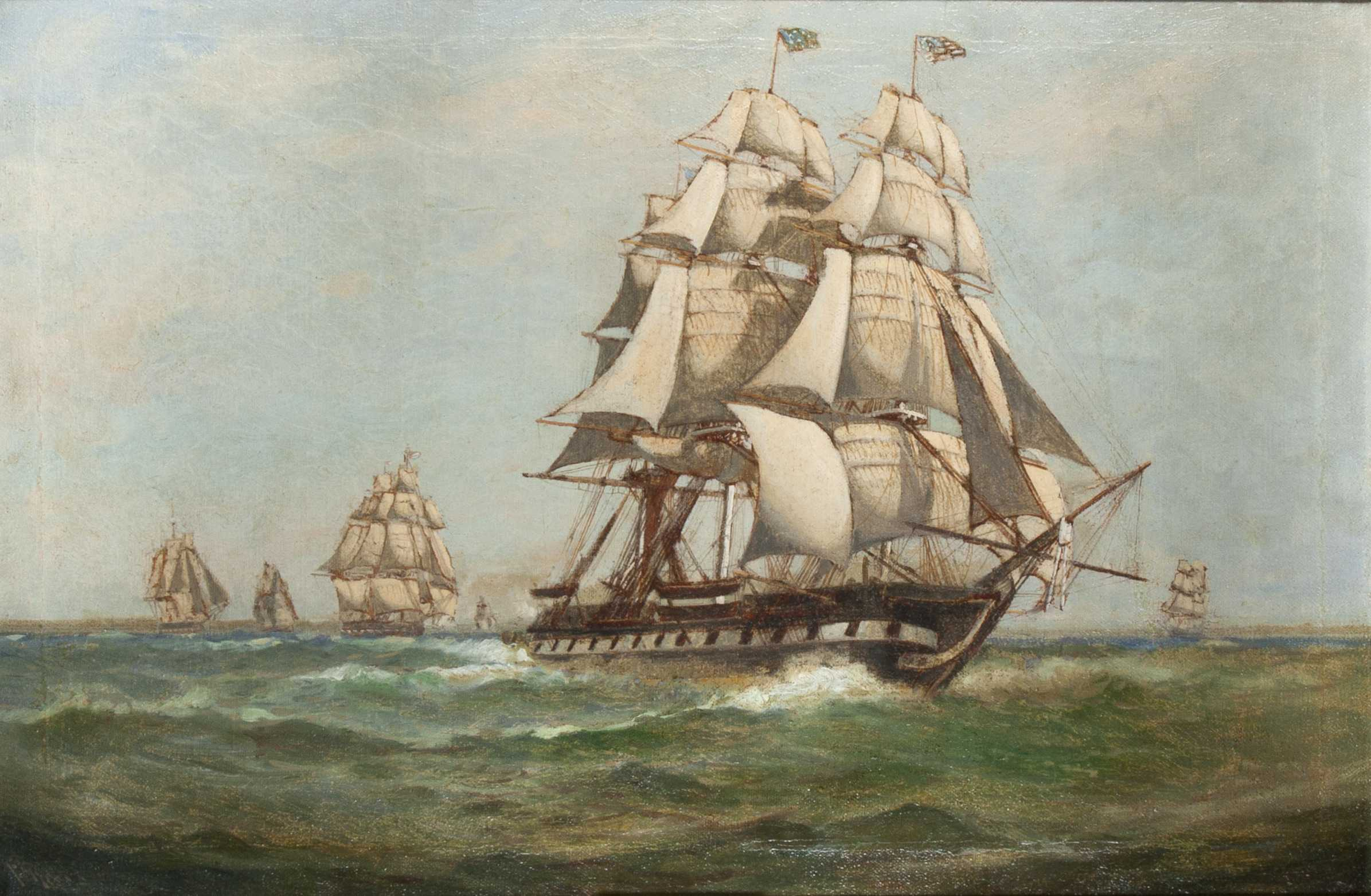 Uss Constitution Oil Painting