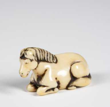Ivory Netsuke of a Horse