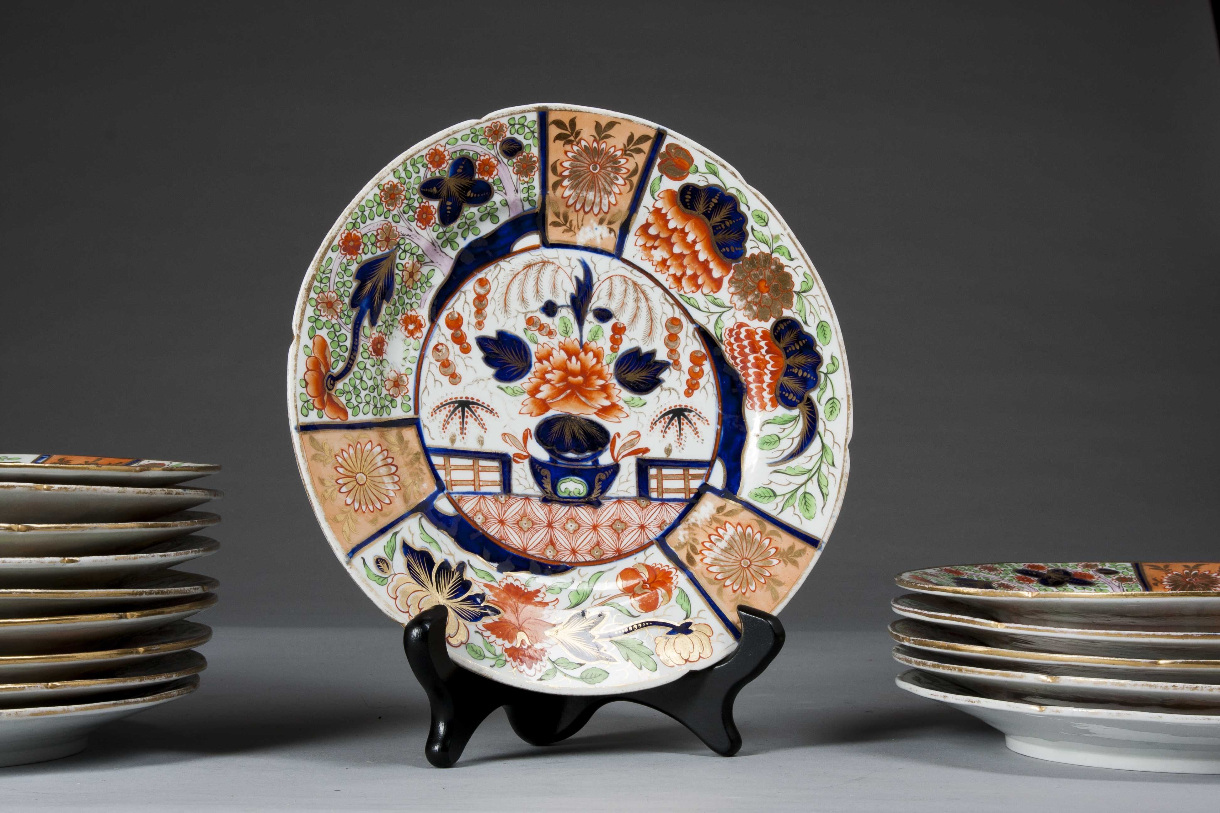 & Fifteen Japanese Imari Plates