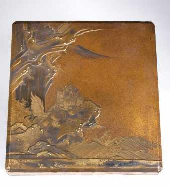 Japanese Lacquer Suzuri-Bako (writing box)